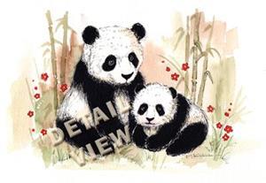Detail Image for art Mama Panda & Baby