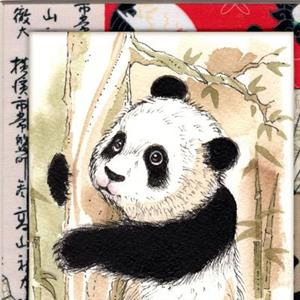 Detail Image for art Panda Hanging Out In a Tree