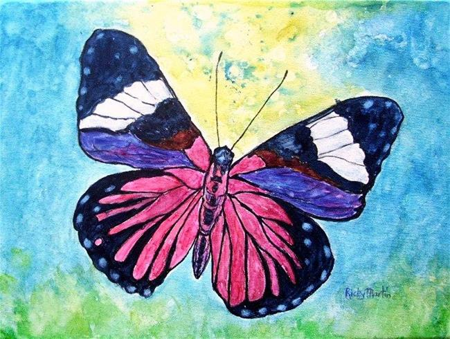 Art: Red Cracker (Hamadryas Amphinome) Butterfly by Artist Ulrike 'Ricky' Martin