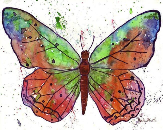 Art: Butterfly by Artist Ulrike 'Ricky' Martin