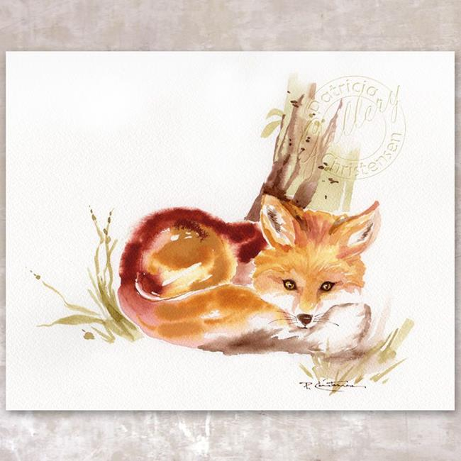 Art: Red Fox in Repose by Artist Patricia  Lee Christensen