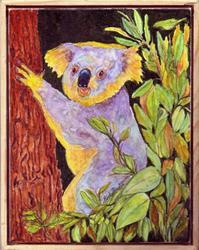 Art: Hiding in the Eucalyptus Tree by Artist Ulrike 'Ricky' Martin