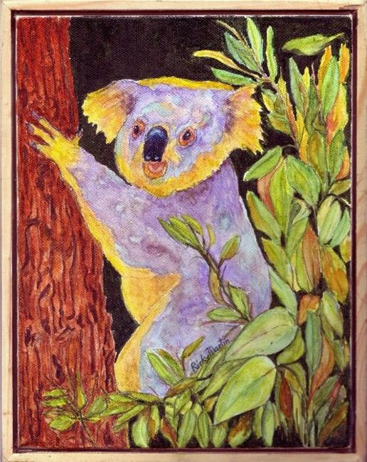 Art: Hiding in the Eucalyptus Tree by Artist Ulrike 'Ricky' Martin