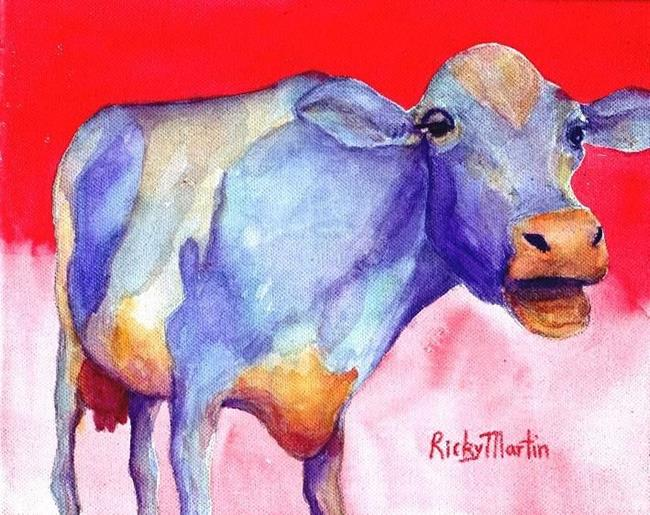 Art: Purple Cow by Artist Ulrike 'Ricky' Martin