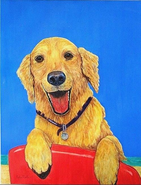 Art: Golden Retriever - sold by Artist Ulrike 'Ricky' Martin