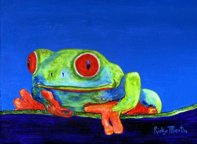 Art: Tree Frog (available in my ebay store) by Artist Ulrike 'Ricky' Martin