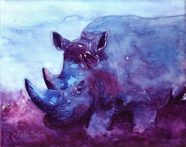 Art: Blue Rhino - sold by Artist Ulrike 'Ricky' Martin