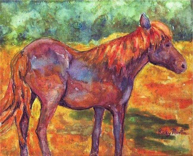 Art: Pony  ( available in my ebay store) by Artist Ulrike 'Ricky' Martin