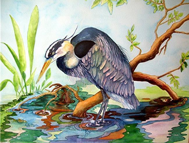 Art: Blue Heron - NFS by Artist Ulrike 'Ricky' Martin