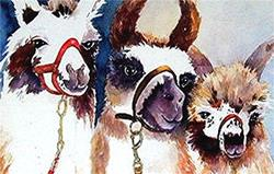 Art: Llamas (available in my ebay store) by Artist Ulrike 'Ricky' Martin
