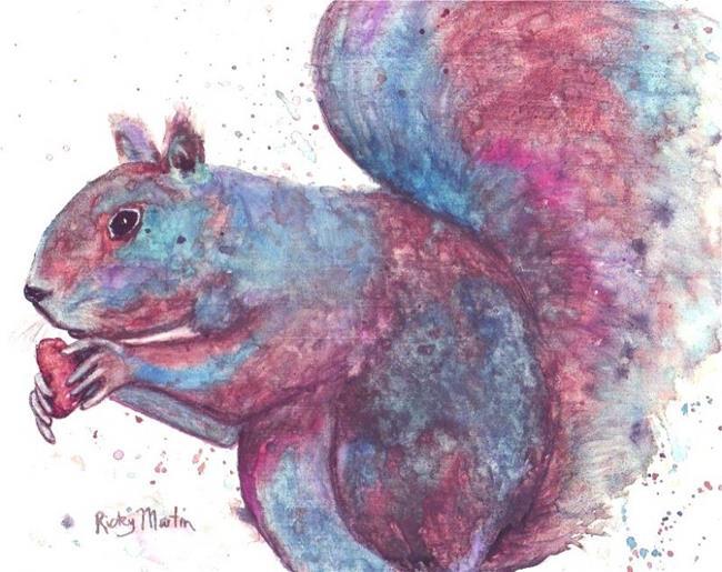 Art: Gray Squirrel by Artist Ulrike 'Ricky' Martin