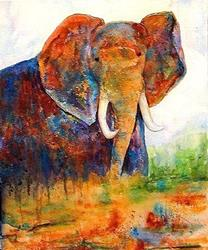 Art: Old Rogue Elephant - sold by Artist Ulrike 'Ricky' Martin