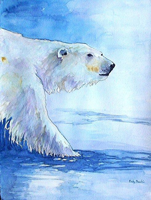Art: Polar Bear - sold by Artist Ulrike 'Ricky' Martin