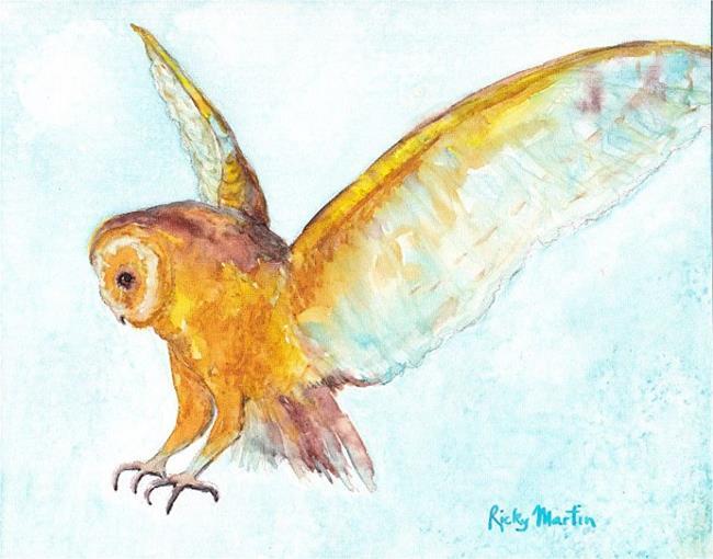 Art: Owl in Flight by Artist Ulrike 'Ricky' Martin