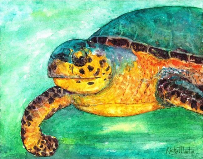 Art: Loggerhead Turtle - sold by Artist Ulrike 'Ricky' Martin