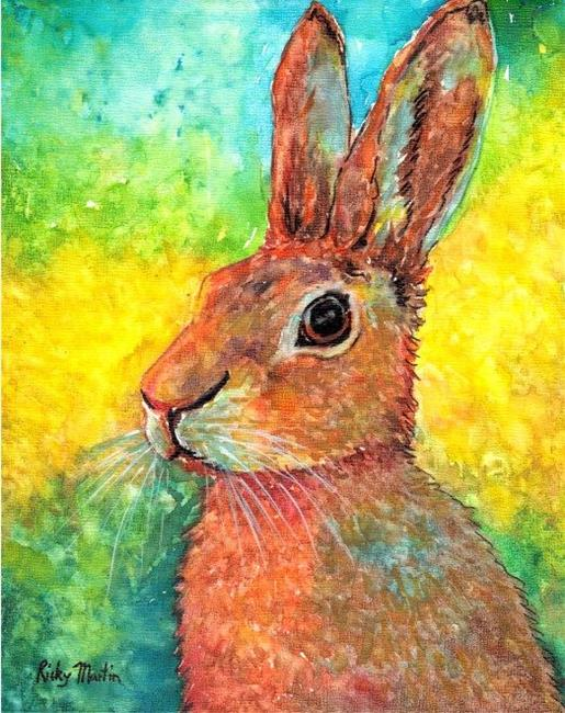 Art: Hare I Am - sold by Artist Ulrike 'Ricky' Martin