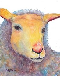 Art: Gentle Sheep - sold by Artist Ulrike 'Ricky' Martin