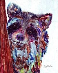 Art: Raccoon by Artist Ulrike 'Ricky' Martin