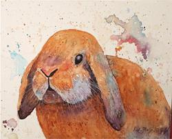 Art: Floppy Eared Bunny by Artist Ulrike 'Ricky' Martin