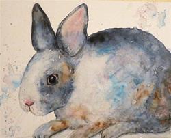 Art: Grey Bunny by Artist Ulrike 'Ricky' Martin