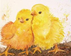 Art: Fluffy Baby Chicks by Artist Ulrike 'Ricky' Martin