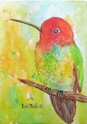 Art: Hummingbird  (sold) by Artist Ulrike 'Ricky' Martin