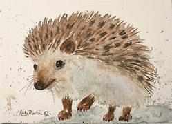 Art: Hedgehog - sold by Artist Ulrike 'Ricky' Martin