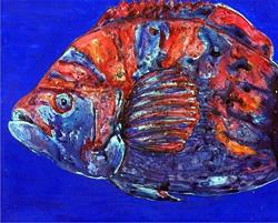 Art: Oscar Fish - sold by Artist Ulrike 'Ricky' Martin