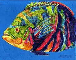 Art: Colorful Oscar Fish  sold by Artist Ulrike 'Ricky' Martin