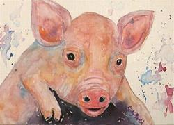 Art: Baby Pig  - sold by Artist Ulrike 'Ricky' Martin