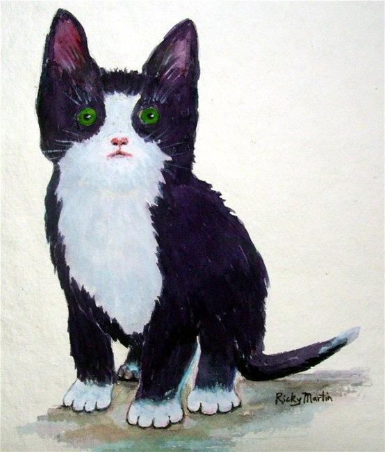 Art: Tuxedo Kitten by Artist Ulrike 'Ricky' Martin