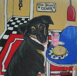 Art: Miss Skippy's Diner by Artist Heather Sims
