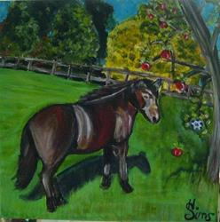 Art: Max and the Polish Pottery Apple by Artist Heather Sims