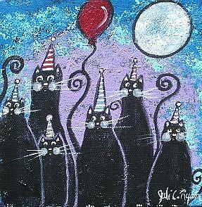 Art: Party Cats by Artist Juli Cady Ryan