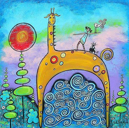 Art: A Little Help From My Friends by Artist Juli Cady Ryan