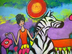 Detail Image for art A Zebra Tea Party