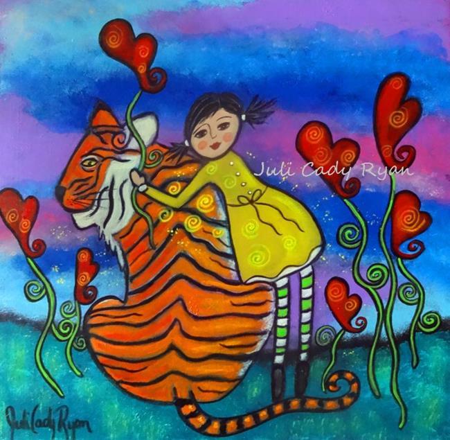 Art: Beauty Loves the Beast by Artist Juli Cady Ryan