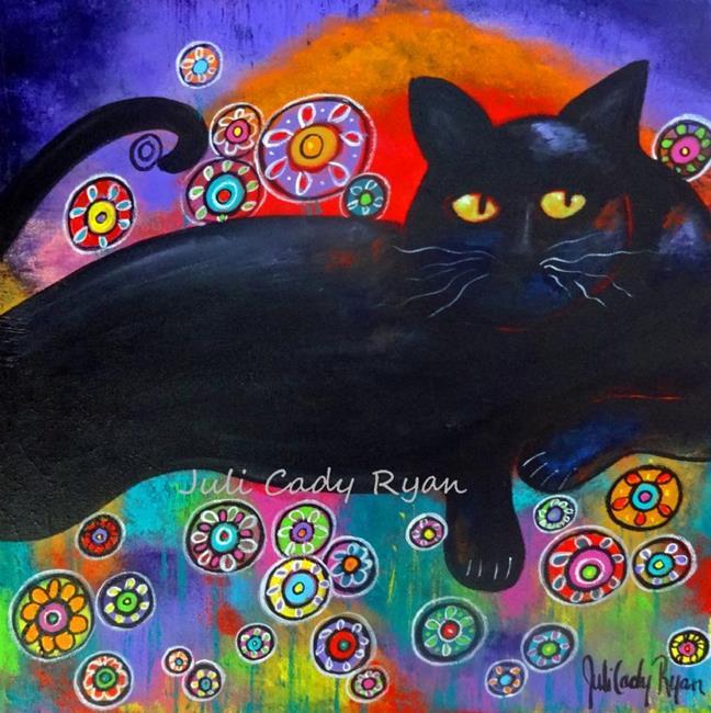 Art: Francis Loves Flowers by Artist Juli Cady Ryan