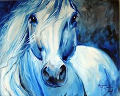 Art: GREY GHOST EQUINE 2016 by Artist Marcia Baldwin