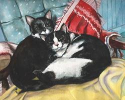 Art: Cassie and Mannie by Artist Mark Satchwill