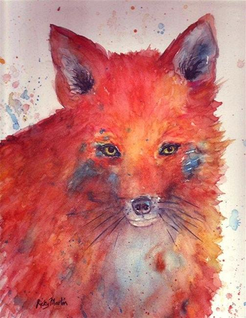 Art: Red Fox by Artist Ulrike 'Ricky' Martin