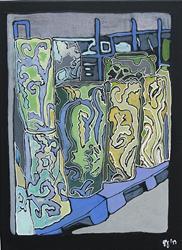 Art: Oviedo Pottery by Artist Joan Hall Johnston