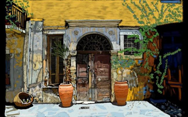 Art: Old Door by Artist Joan Hall Johnston