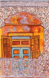 Art: New Orleans Balcony by Artist Joan Hall Johnston