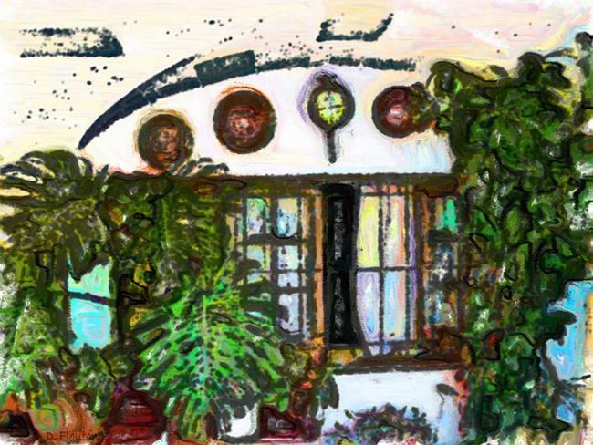 Art: Arch garden by Artist Deanne Flouton