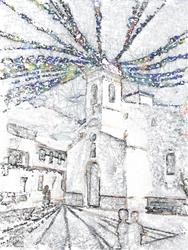Art: Post Fiesta Atmosphere by Deanne Flouton