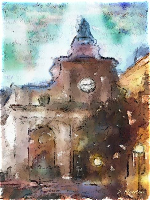Art: Town Hall Mahon 2 by Artist Deanne Flouton