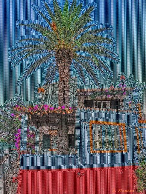 Art: Palm tree by Artist Deanne Flouton