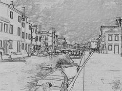 Art: Grey and Gloomy Burano by Deanne Flouton