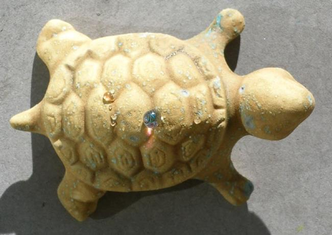 Art: Turtle art bead by Artist Deborah Sprague